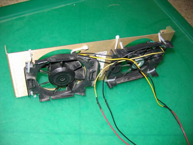 Intel fans mounted on bracket