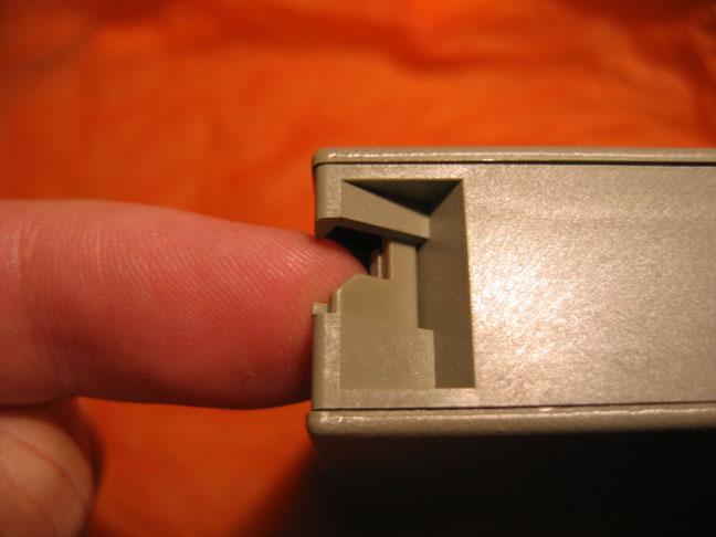 Tape door lock